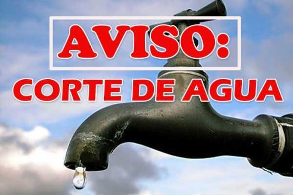 Aviso corte de agua