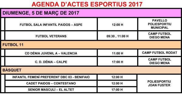 AGENDA ESPORTIVA 4 i 5 de Març premsa-2