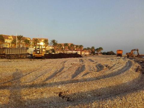 recogida de algas limpieza playas