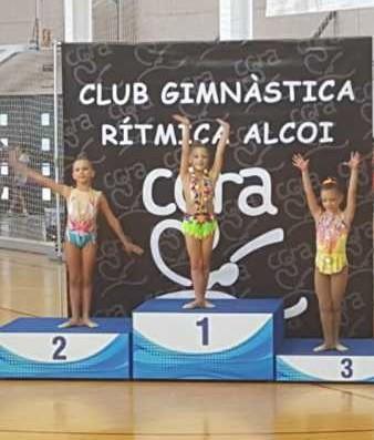 Club GR DENIA Podio Sofia Corti ORO