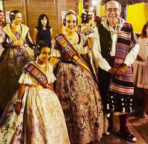 Pepe Crespo junto a las FFMM de Dénia en la proclamación de Segorbe