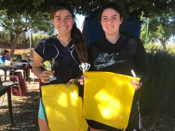 Ines campeona y Neus finalista cadete torneo UPT